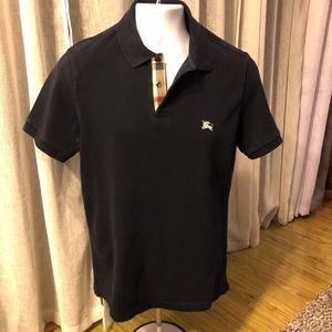 Burberry Brit Navy Blue Polo Size M